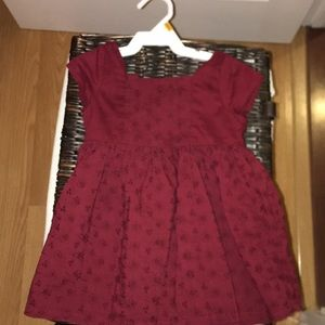 Other - Burgundy baby girl dress